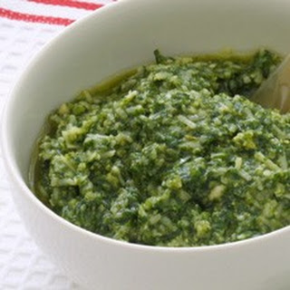 Home-made Pesto Sauce.