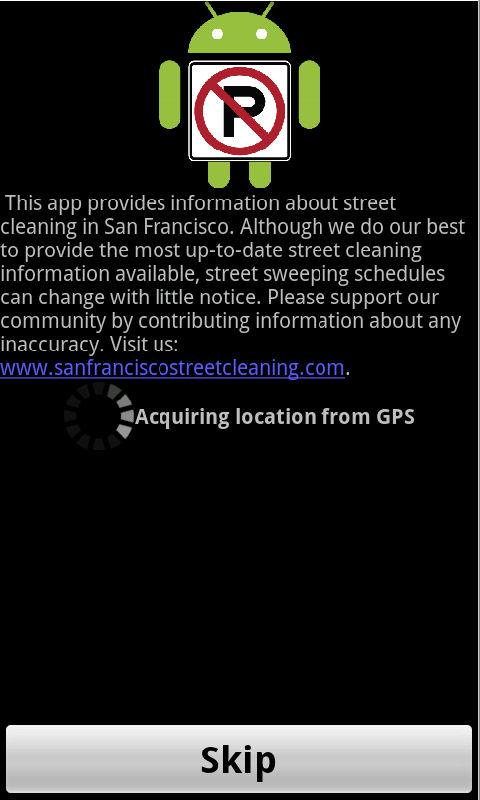 San Francisco Street Cleaning - screenshot