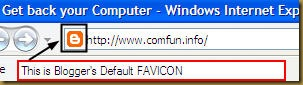 Default Blogger Favicon