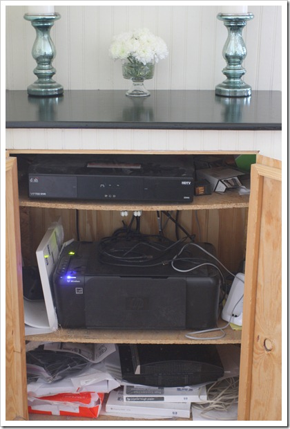 TV cabinet inside