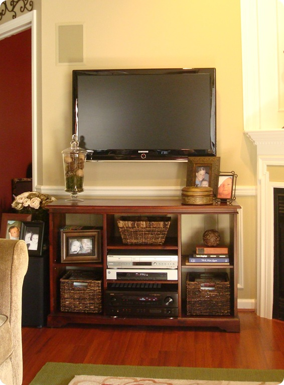 Before and after TV stand updates