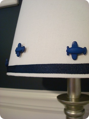 Airplane lamp shade craft