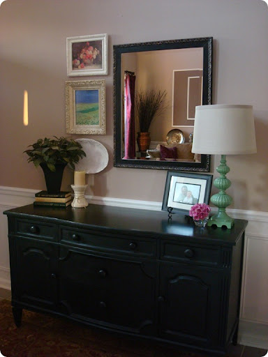 Black painted buffet foyer redo
