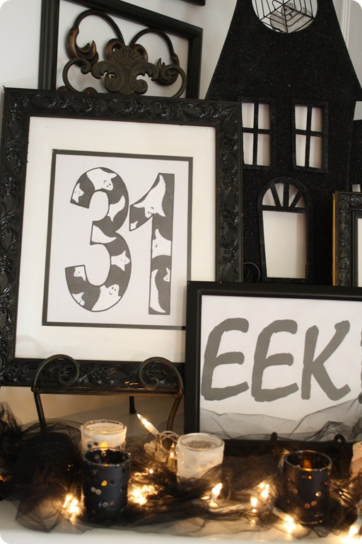Easy Halloween printouts for mantel