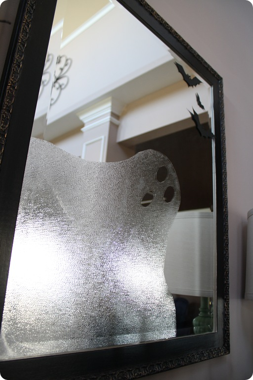 ghost on mirror with contact paper