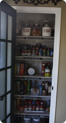 how to organize small pantry