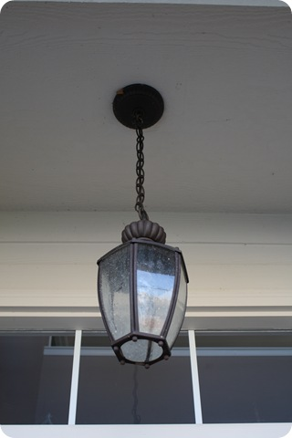 dark bronze hanging porch light