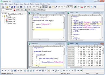 DesyEdit Free Editor for HTML C/C++ Java