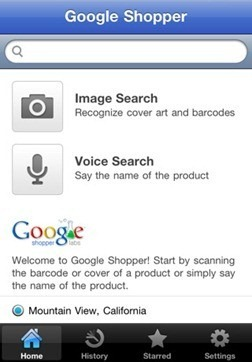 Google Shopper for iPhone, iPod Touch