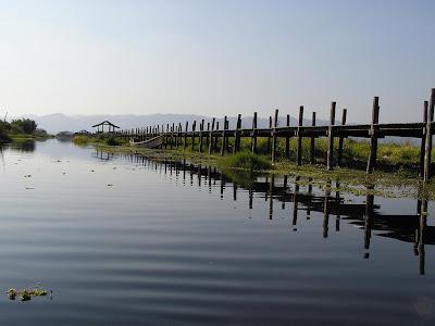 Inle Maing Thauk wooden bridge