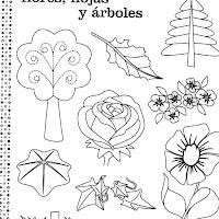 Dibujos De Flores Hojas Y Arboles Para Colorear