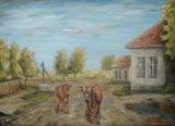 Kravy vychádzajúce na pašu