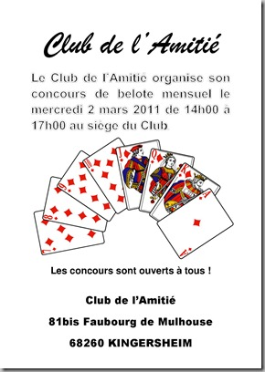 Belote club de l'amitié