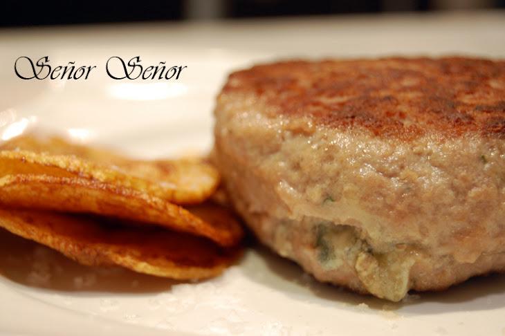 Blue-Cheese Stuffed Hamburgers Recipe