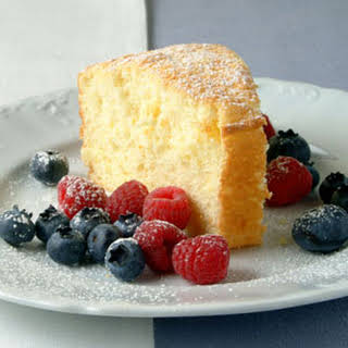 Orange Cake with Fresh Berries.