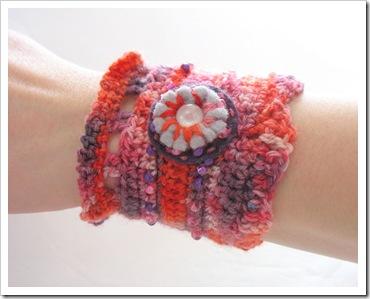 New Crochet Cuff Bracelet