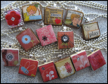 Scrabble Tile Charm Necklaces