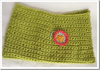 Before felting - really loose crochet.