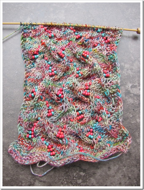 undulating waves scarf