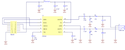 CS4344 Audio Schematic
