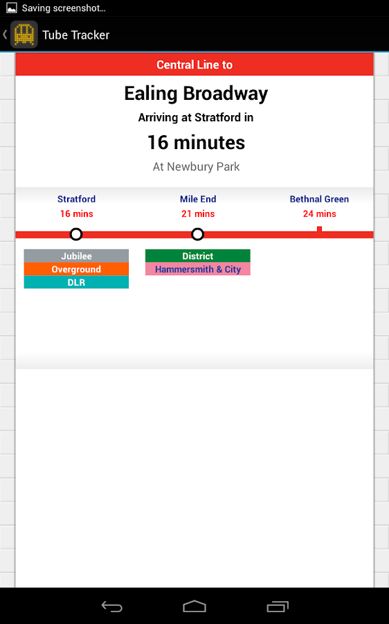 Tube Tracker - Live Departures - screenshot