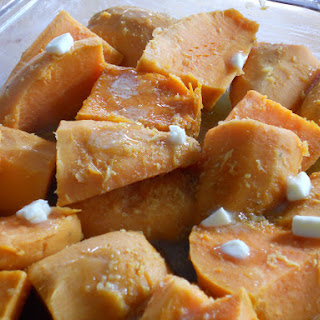 Roasted Sweet Potatoes with Ginger & Citrus for LouLou.