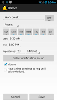 Screenshot of Timely Chimer