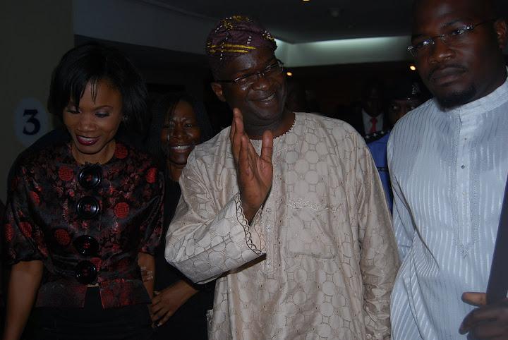 Funmi Iyanda with Lagos State Governor - Babatunde Fashola