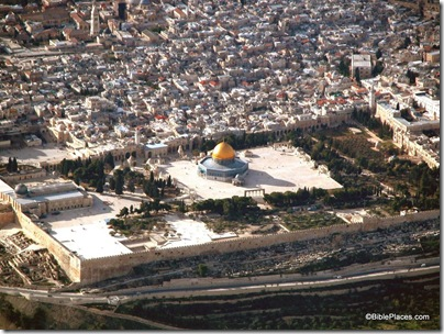 Temple Mount aerial from se, tb010703230
