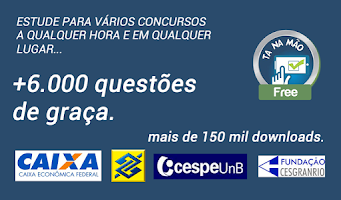 Screenshot of TáNaMãoFree Concursos Questões