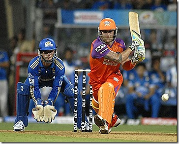 Brendon McCullum's quickfire 81 helped Kochi chase down Mumbai's 182 in an IPL League