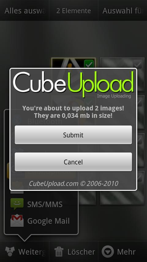 CubeUpload- screenshot