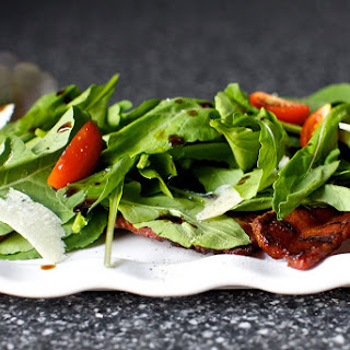 Grilled Bacon Salad with Arugula and Balsamic