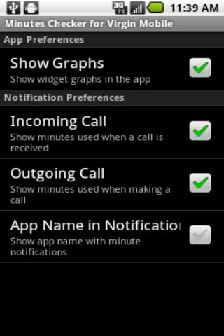 Minutes Checker: Virgin Mobile - screenshot