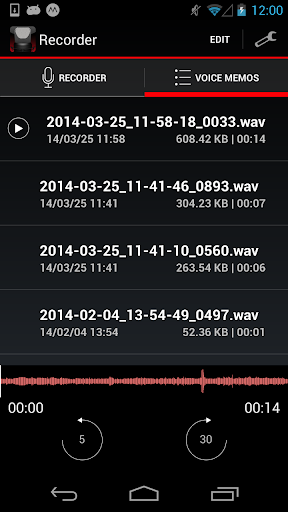 Voice Recorder HD 1.1.0 screenshots 2