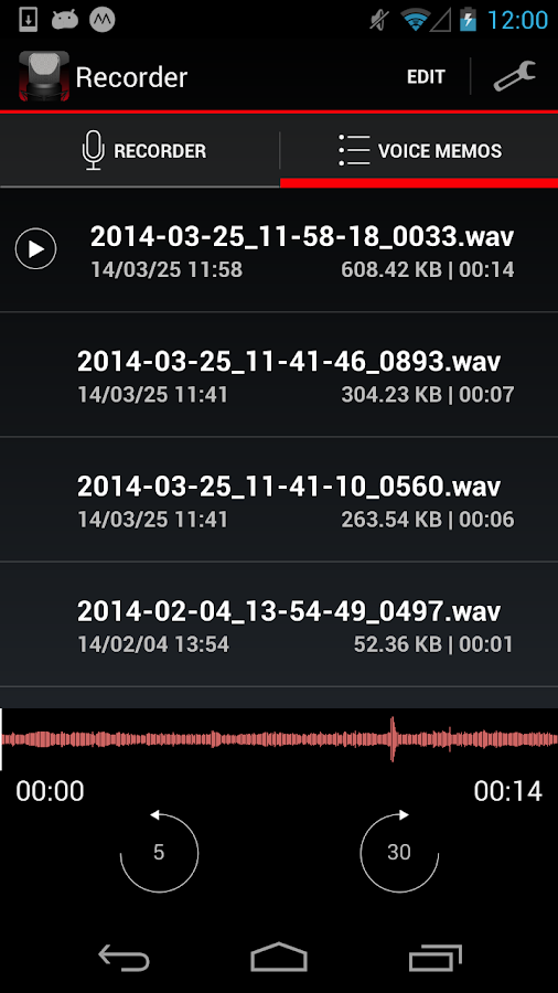 Voice Recorder HD- screenshot