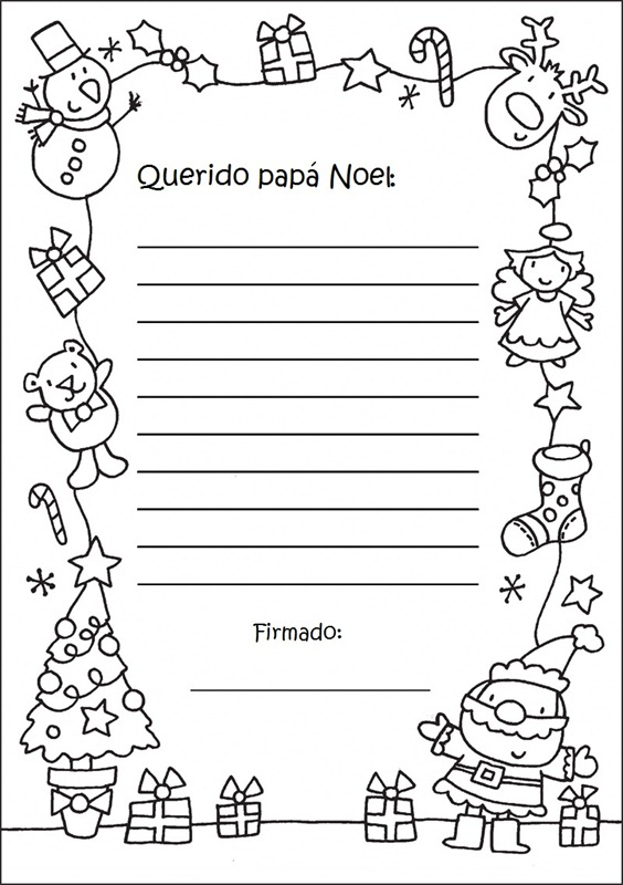 Cartas A Papa Noel Para Imprimir Ejemplos - Papa-noel-para-imprimir