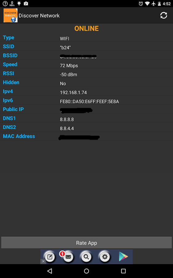 Wifi And Data Network Info Android Apps On Google Play
