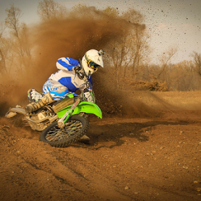 Dust by Kenton Knutson - Sports & Fitness Motorsports ( roost, motocross, racing, mx, dirt bike, kawasaki, 450f,  )