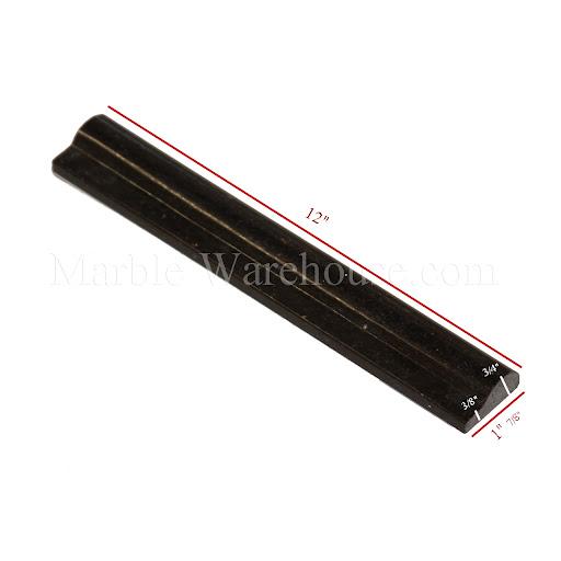 BLACK GALAXY CHAIR RAIL GRANITE TILE BULLNOSE MOLDING