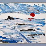 winterse akker, monoprint