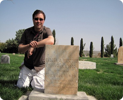 Taylor and the Gravestone
