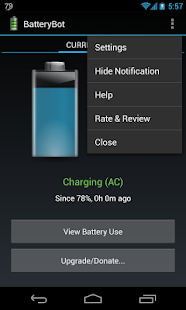 BatteryBot Battery Indicator - screenshot thumbnail