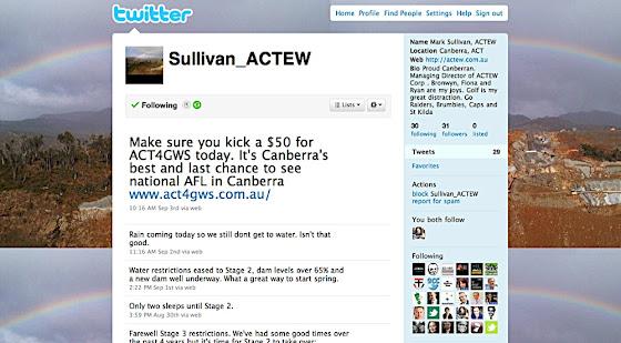 Mark Sullivan's twitter page