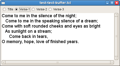 Working with text buffers  - GNOCL Tcl/GTk Bindings