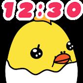 Clock Widget Baby Chick & Egg