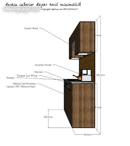 Desain Interior Dapur Kecil Minimalist Ukuran 1 9 215 3 8 M
