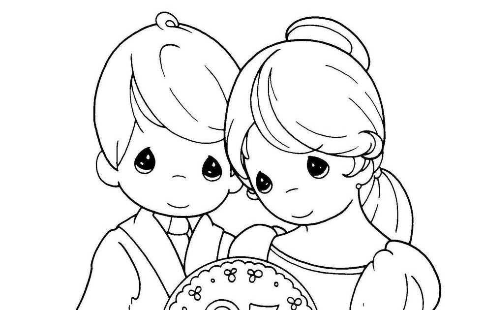 Wedding anniversary coloring pages precious moments for Wedding anniversary coloring pages