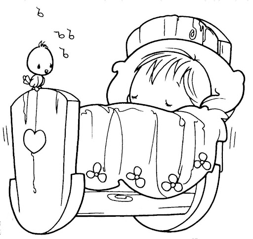 baby precious moments coloring pages - coloring pages august 2010