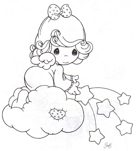 baby boy angel coloring pages - photo #46